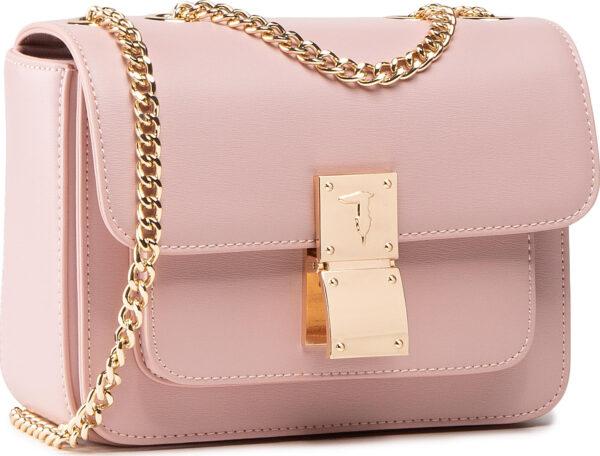 20210224124213 trussardi lione gynaikeia flap bag omou se roz chroma 75b00953 p072